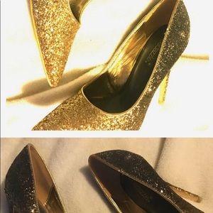 Shoedazzle gold high heels